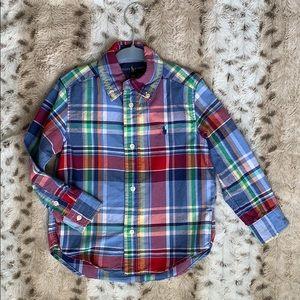Ralph Lauren Boys 3T plaid button up shirt